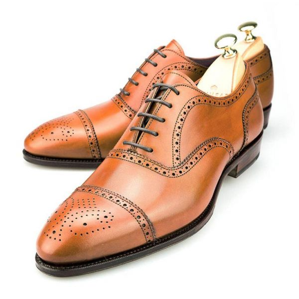 Brogue Shoes For Men's – Tan Elevator Shoes